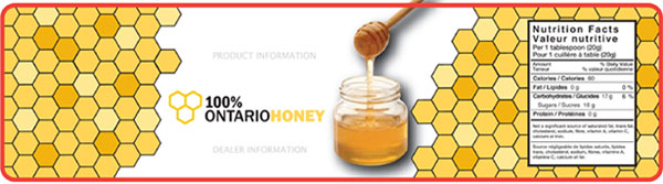 100% Honey Label Example